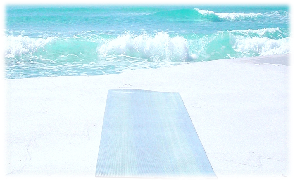 On the Mat...Fluidly Flowing Beach Yoga
