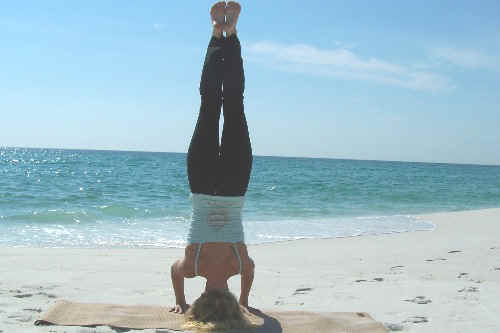 Beach Yoga Balance Pose Pictures Fort Walton Beach Florida