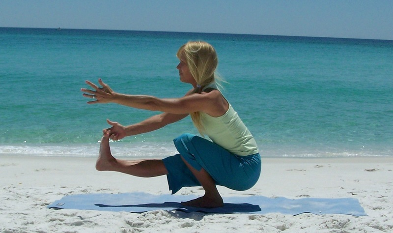 Beach Yoga Pose Pictures Revolved Triangle Pose
